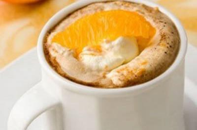 Кофе гляссе с апельсиновым ликером