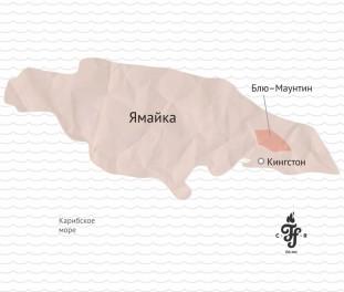 Кофе Ямайка Блю Маунтин на карте