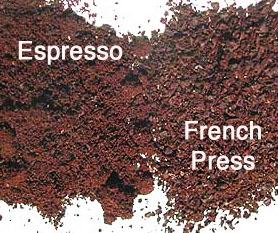 сравнение помола еспрессо и френч-пресса